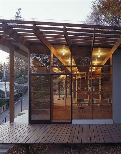 japanese residence  wood  glass geometry
