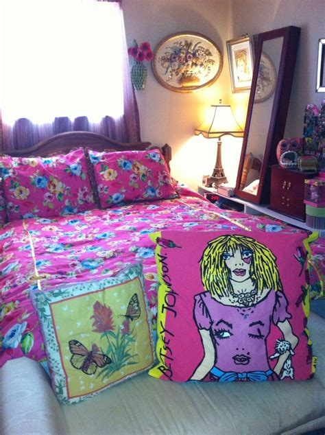 betsey johnson comforter betsey johnson inspired bedding with hand painted pillow