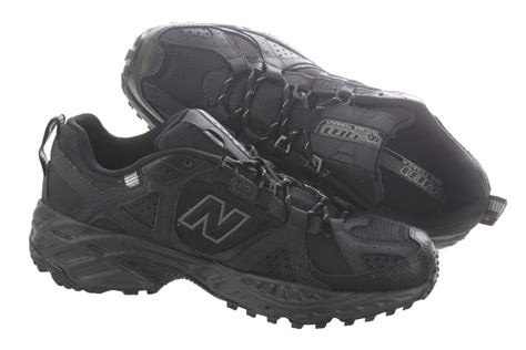 all black walking shoes new balance walking shoes all terrain mt481bg black mens