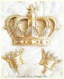 Crown Bed Canopy Gold Fleur De Lis Bed Crown Canopy Set Paint Finish