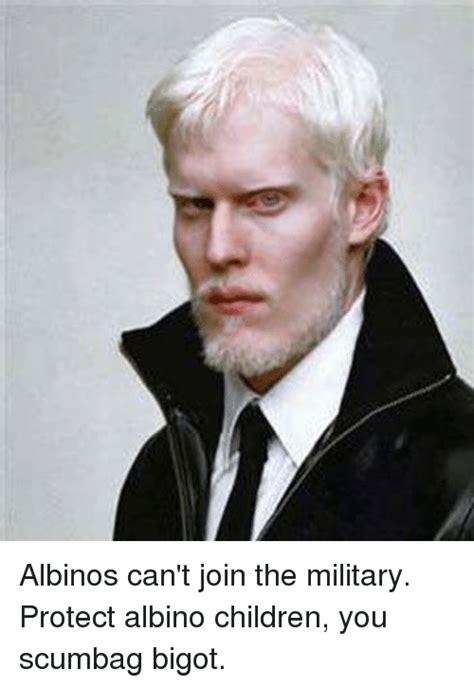 Albino Meme - albinos can t join the military protect albino children