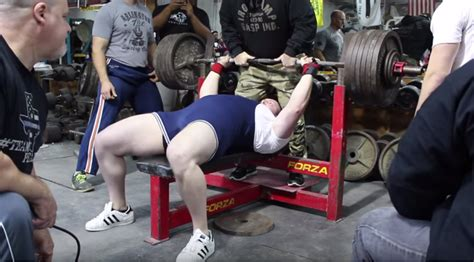 guy benches 500 pounds peter edgette youngest person to bench press 600 lbs