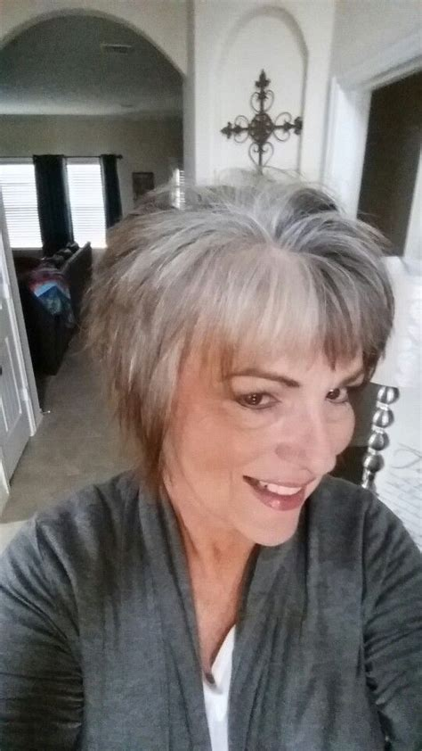 hairstyles for letting grey grow out 110 best images about going grey on pinterest short grey