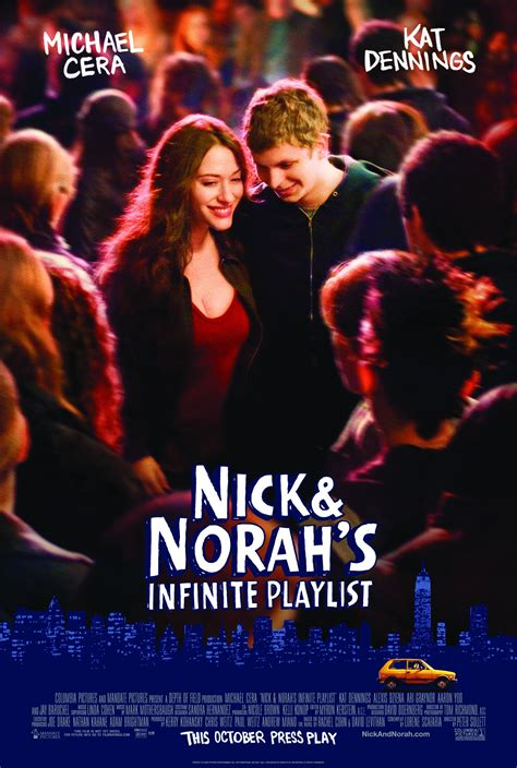 nick and nora s nick and norah s infinite playlist 2008 poster freemovieposters net