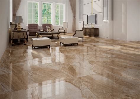 Marble Floor Tile Umbria Beige Marble Effect Floor Tile