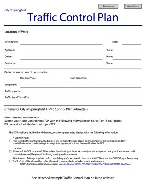 Fillable Traffic Control Plans Fill Online Printable Fillable Blank Pdffiller Traffic Management Plan Template