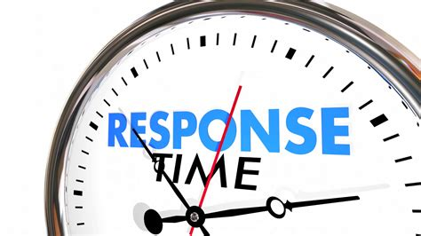 Fast Respon response time clock fast speed service attention 3d