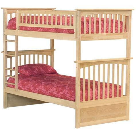 Atlantic Columbia Bunk Bed Atlantic Furniture Columbia Bunk Bed In Maple Ab55105