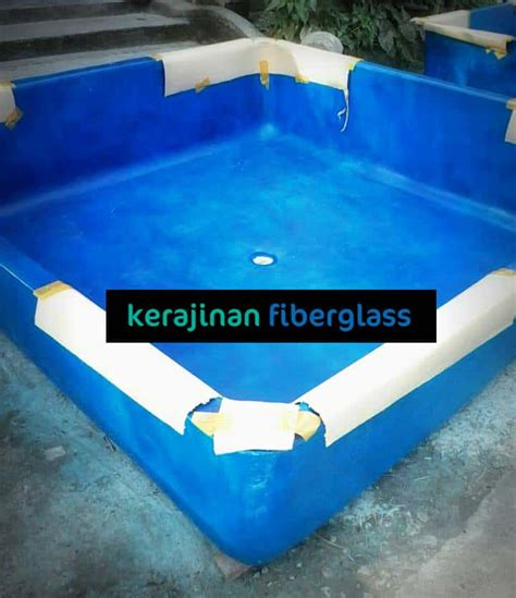 Jual Kolam Terpal Koi bak fiber ikan koi kolam air fiberglass murah