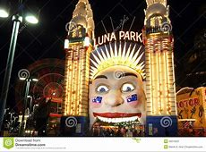 Luna Park With Ferris Wheel Blur At Night Editorial ... Ferris Wheel Vector Free Download