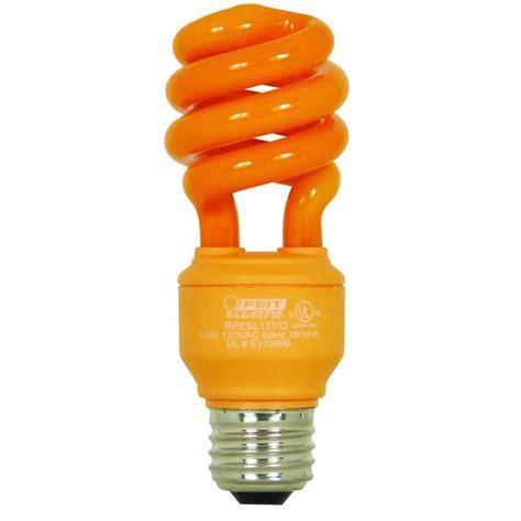 feit orange cfl party light bulb 13w 60w team halloween