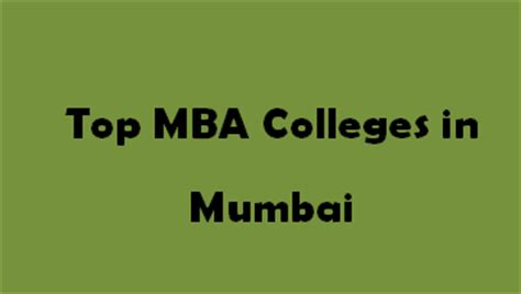 Top 10 Colleges For Mba In Hospital Management In India by Top Mba Colleges In Mumbai 2015 2016 Exacthub