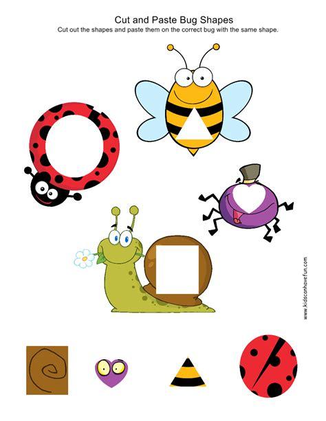 kindergarten activities cut and paste cut and paste kindergarten preschool worksheets