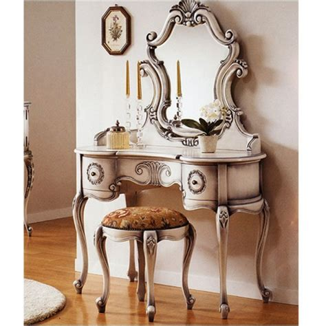 Antique Vanity Sets For Bedrooms Antique White Vanity Louise Style Bedroom Vanity