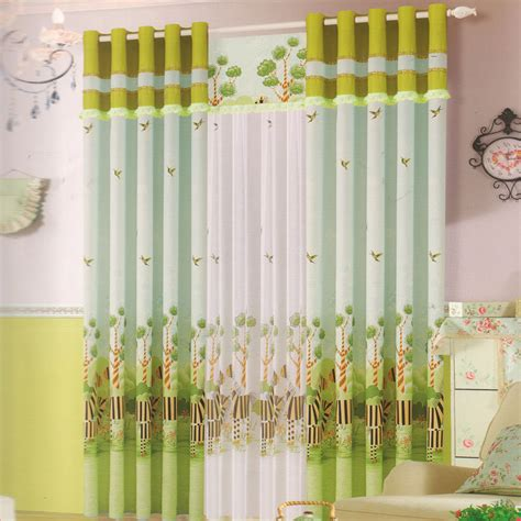Light Green Curtains Decor Kid Curtain Cotton Fabric Light Green Color