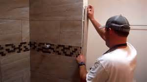 how to cut bathroom tiles install shower tile edging trim and easy