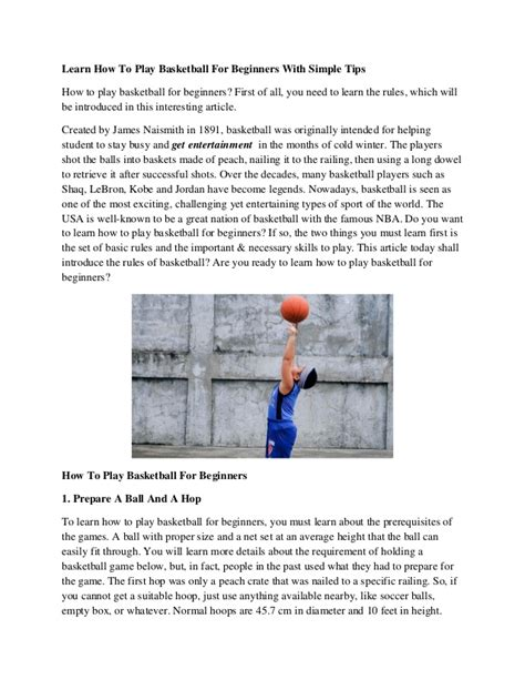 how to play basketball beginner learn how to play basketball for beginners with simple tips