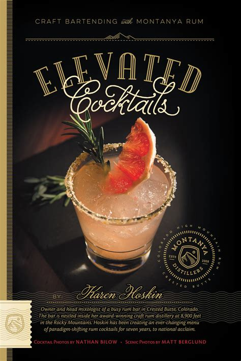 cocktail recipes book elevated cocktails a cocktail recipe book montanya