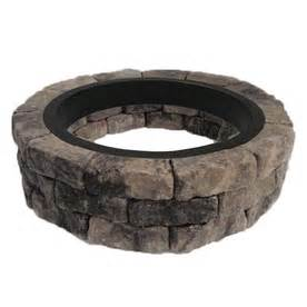 Lowes Firepit Kit Shop Allen Roth Gray Charcoal Flagstone Pit Patio Block Project Kit At Lowes
