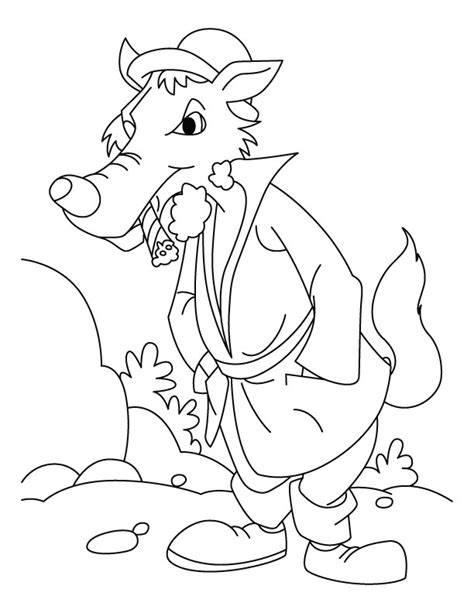 coloring pages big bad wolf bad wolf coloring pages download and print for free