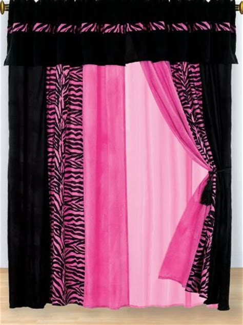 Pink And Black Curtains Inspiration Pink Curtains For Room