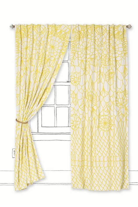 Yellow Brown Curtains These Curtains To Brighten Up Living Room W The Brown Leather Couches We From Naug