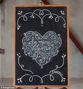 design students anonymously decorate blackboards with inspiring quotes daily mail online