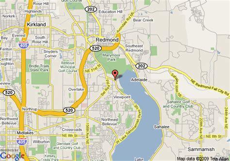 maps redmond map of oakwood redmond redmond