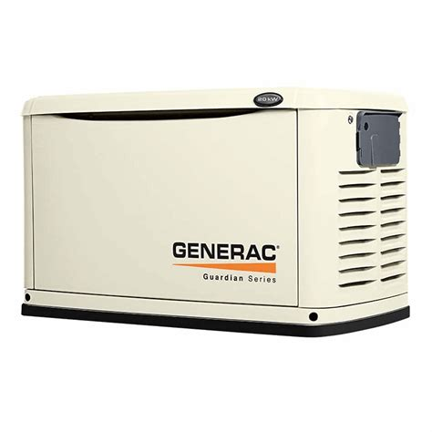 generac whole house generator generac power systems guardian 20kw standby generator system w whole house switch