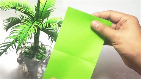 membuat pohon kelapa  kertas origami