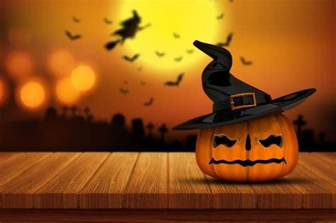 descargar imagenes de halloween gratis calabaza de halloween en una mesa de madera descargar