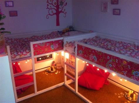 how to add lights to headboard painted ikea kura bed add wallpaper and christmas lights