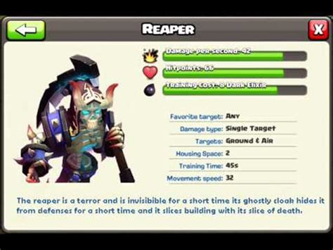 2016 new update clash of clans clash of clans new troop idea 2016 reaper