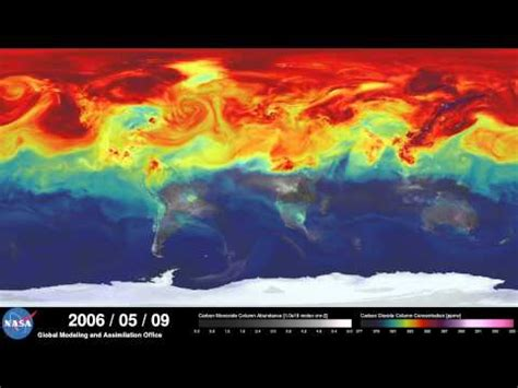 nasa computer model of earth s co2 is awesome science causescience