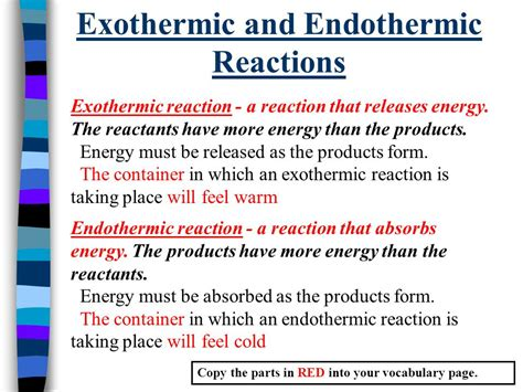 Key Question: What is the difference between exothermic ... Endothermic And Exothermic Reactions Temperature Change