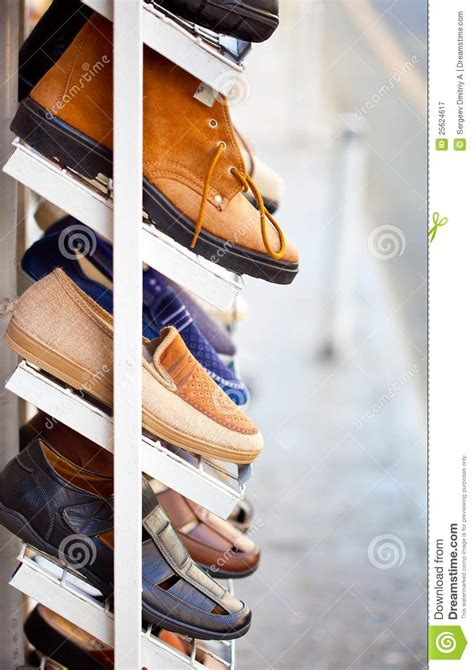 On The Shelf Boots by Shoes Is On The Shelf Royalty Free Stock Photography