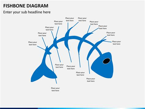 Fishbone Diagram Powerpoint Template Sketchbubble Fish Diagram Template