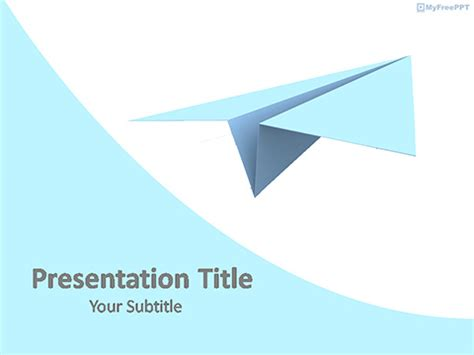 Free Paper Plane Toy Powerpoint Template Download Free Powerpoint Ppt Paper Powerpoint Template