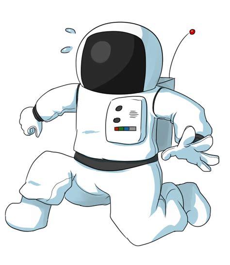 Spaceman Moving Free Panicking Astronaut Clip