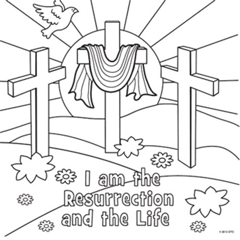 coloring page for resurrection easter lapbook part 3
