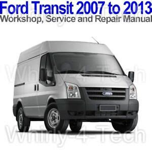 service repair manual free download 2012 ford transit connect navigation system ford transit 2007 to 2013 workshop service and repair manual on cd ebay