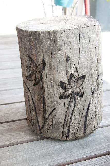 Burning Stool by 17 Best Images About Stump Projects On Gardens