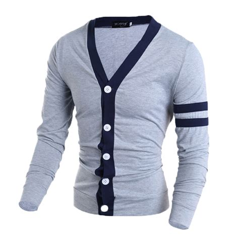 Sweater Slim Fit Fashion Mens Slim Fit V Neck Knitwear Pullover Cardigan