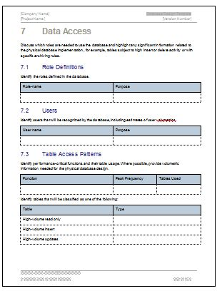 database design document ms word template ms excel data