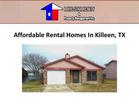 affordable rental homes in killeen tx
