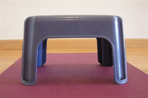 Small Plastic Stool by Shoulder Stand Preparation On A Plastic Stool Five