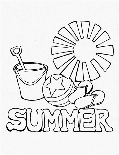 Coloring Page For Summer by Free A Summer Day Coloring Pages