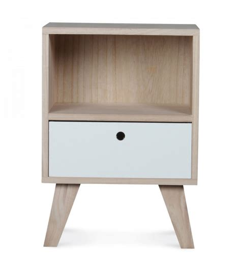conforama table de nuit table de chevet design en bois haut 50cm wadiga