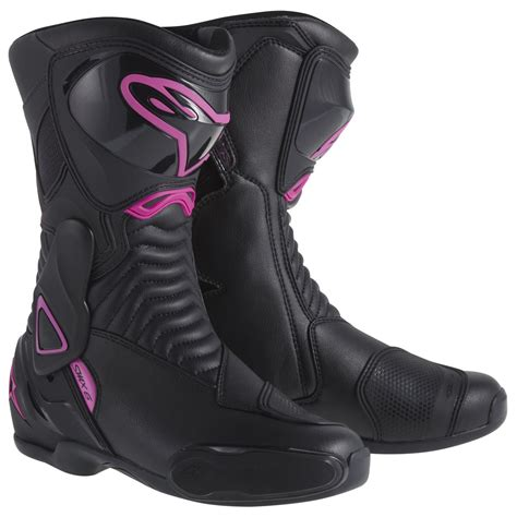 womens red motorcycle boots alpinestars stella smx 6 womens boots sport race boots
