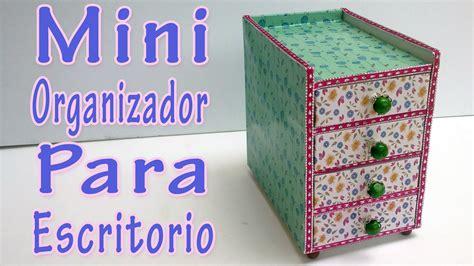 Calendario Cartulina Manualidades Manualidades Mini Organizador Para Escritorio